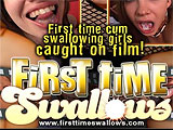 First Time Swallows From All Gang Bang